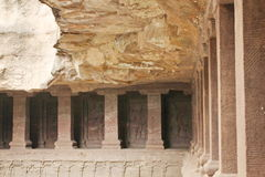 埃洛拉石窟, Kailasa寺庙的里面看法,印度洞没有16,印度 库存图片