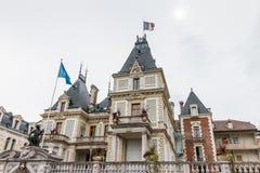 埃维昂莱班, FRANCE/EUROPE - 9月15日:旅馆de看法  免版税图库摄影