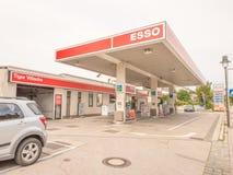 埃索石油加油站 免版税库存照片