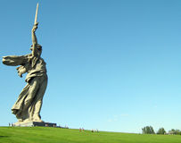 埋葬mamaev土墩 库存图片