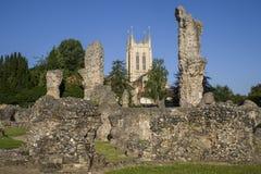 埋葬St埃德蒙兹修道院遗骸和圣Edmundsbury大教堂 库存照片