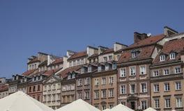 城内住宅墙壁  免版税库存图片