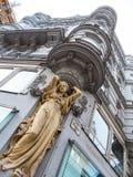 城内住宅的雕塑 免版税库存照片