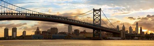 费城地平线全景 免版税库存照片