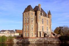 城堡、公园和庭院 库存图片