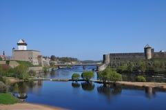 城堡一个相反的安排二世界 库存图片