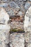 城堡与花的曲拱形状 免版税库存图片