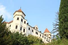 城堡世纪捷克konopiste共和国xiii xiv 库存照片