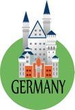 城堡中世纪的德国 免版税库存照片