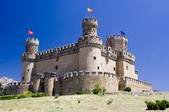 城堡中世纪西班牙语 免版税库存照片
