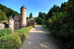 城堡中世纪mespelbrunn 免版税库存照片