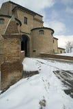 城堡中世纪monbaroccio 免版税库存照片