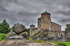 城堡中世纪savonlinna 图库摄影