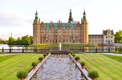 城堡丹麦菲特列堡希勒勒 库存照片