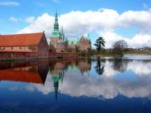城堡丹麦菲特列堡 库存照片