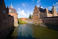 城堡丹麦菲特列堡 免版税库存照片