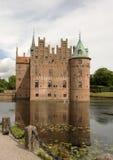 城堡丹麦egeskov 库存图片