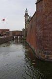 城堡丹麦hdr图象kronborg类型 库存图片