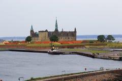 城堡丹麦hdr图象kronborg类型 免版税库存照片
