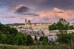 城堡乌尔比诺意大利 免版税库存照片