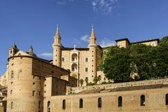 城堡乌尔比诺意大利 免版税库存图片
