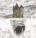 城堡云彩 免版税库存图片