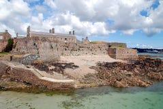 城堡伊丽莎白小岛泽西 库存图片