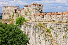 城堡伊斯坦布尔yedikule 库存照片
