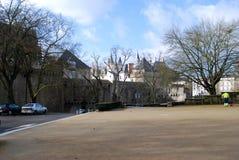 城堡侧视图在南特 库存图片