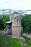 城堡保卫helfenburg塔 库存图片