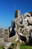 城堡停泊葡萄牙sintra墙壁 库存照片