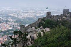 城堡停泊,辛特拉,葡萄牙 免版税库存图片