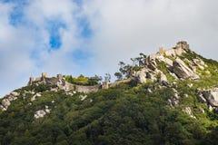 城堡停泊,辛特拉,葡萄牙 免版税库存照片