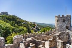 城堡停泊,辛特拉,葡萄牙 免版税图库摄影