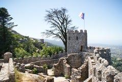 城堡停泊sintra 库存照片
