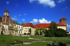 城堡克拉科夫全景 免版税库存照片