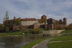 城堡克拉科夫波兰wawel 库存照片