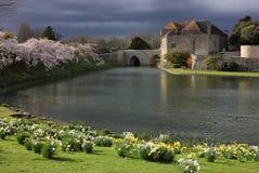 城堡入口肯特王国团结的利兹 免版税库存照片