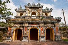 城堡入口颜色越南 免版税库存图片