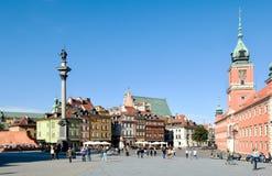 城堡全景波兰方形华沙 库存图片