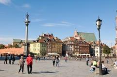 城堡全景波兰方形华沙 免版税库存照片
