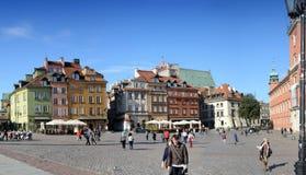 城堡全景波兰方形华沙 免版税库存图片