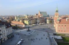 城堡全景波兰方形华沙 库存照片