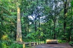 城堡公园在普什奇纳,波兰 免版税库存照片