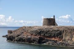 城堡兰萨罗特岛 库存照片