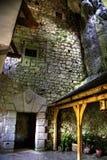 城堡内部predjama 图库摄影