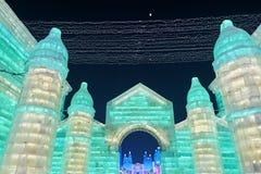 城堡冰灯  库存照片