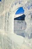 城堡冰Lake Louise 免版税库存图片