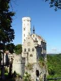 城堡利希滕斯泰因 库存图片