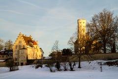 城堡利希滕斯泰因,德国 免版税图库摄影
